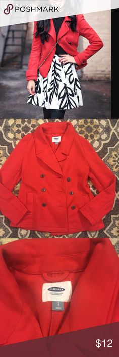 Old navy red peacoat jacket Excellent condition Old Navy Jackets & Coats Pea Coats