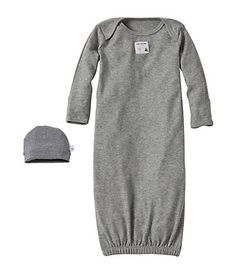 Bee Essentials Solid Lap Shoulder Gown and Cap Set - Burts Bees Baby