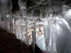 Ice Pillars, Stalactites and Climbers' Heaven in Haffner Creek, Canada