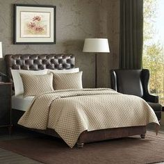 Monet Coverlet Set in Khaki