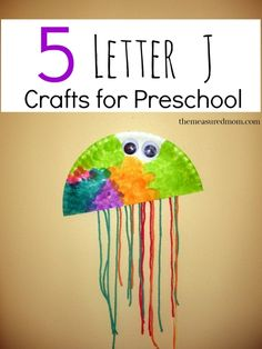 Check out our five fun letter J crafts for preschoolers!  The paper plate jellyfish was our favorite.