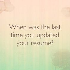 Your resume is a snapshot of who you are professionally. If it's outdated, you could be missing out on some great opportunities. Contact me today to find out how to update and transform your resume http://jenteague.com/resume-writing-services #lookingforw