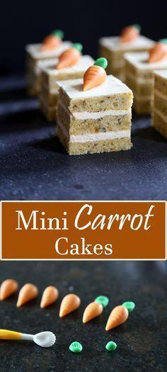 Mini Carrot Cakes with Cinnamon Buttercream Filling