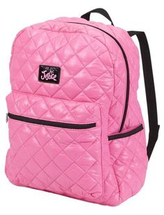 NWT Justice Girls Pink Quilted Rucksack Backpack Tote Bag  #Justice