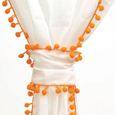 For football season! Take a look at this Orange Trim Cotton Voile Pom-Pom Panel by Karma Living on today! Pom Pom Curtains, Voile Curtains, Pink Curtains, Cotton Curtains, Pom Pom Trim, Pom Poms, Orange Crush, Joss And Main, My Favorite Color