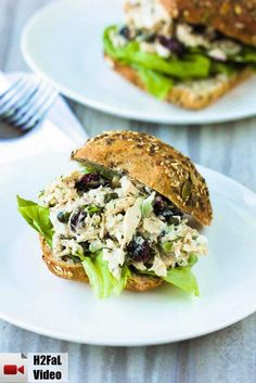 The Best-Ever Tuna Salad Recipe! Get the recipe and watch the how-to video too. The dill, capers and dried cranberries bring such an amazing flavor and texture to the salad, you will just love it. Tuna Recipes, Chicken Salad Recipes, Wrap Recipes, Seafood Recipes, Cooking Recipes, Sandwich Recipes, Dinner Recipes, Sandwich Bar, Salads