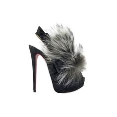 Christian Louboutin 150 Mm Splash Fur Fox Sandals (2.605 BRL) ❤ liked on Polyvore featuring shoes, sandals, heels, christian louboutin, scarpe, high heel platform sandals, fur shoes, fox footwear, platform heel sandals and high heel sandals