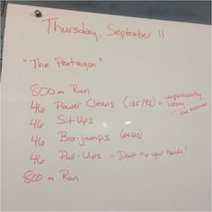 The Pentagon // CrossFit Hero WOD // 9/11 WOD // Hero WOD // September 11 workout