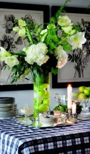 Inspiration for the Living room Black white and green