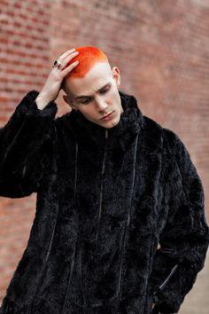 Modern Punk: Jacopo Olmo by Arnaldo Anaya-Lucca Creative Hairstyles, Cool Hairstyles, Ginger Hair Dyed, Boys Colored Hair, Hair Designs For Men, Mens Hair Colour, Creative Hair Color, Shaved Hair Designs, Bald Hair