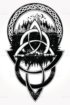 Mountain forest symbol travel symmetry tourism t-shirt - Knot T Shirt - Ideas of Knot T Shirt - unique Geometric Tattoo Celtic knot tattoo. Mountain forest symbol travel symmetry tourism t-shirt Fenrir Tattoo, Norse Tattoo, Viking Tattoos, Druid Tattoo, Viking Tattoo Sleeve, Body Art Tattoos, New Tattoos, Tattoos For Guys, Sleeve Tattoos