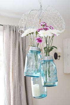 DIY Mason Jar Hanging Vases