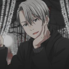 Ice Aesthetic, Aesthetic Anime, Anime Guys, Manga Anime, Anime Art, Yuri On Ice Victor, The Odd 1s Out, Yuri On Ice Comic, Anime Characters