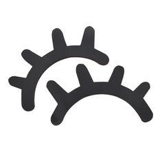 1 Par De Madeira Adesivos de Parede Projeto de Decoração Para Casa de Madeira Bonito Cílios Olho Fechado em Adesivos de parede de Home & Garden no AliExpress.com | Alibaba Group
