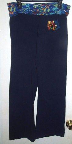 Walt Disney World Parks Yoga Athletic Boot Wide Leg Mickey Stretch Pants M  #Disney #Yoga
