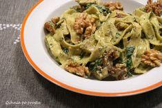 Qchnia po prostu: Makaron z kurczakiem i pesto z rukoli Lidl, Pesto, Food And Drink, Chicken, Cubs