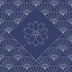 . Sashiko. Abstract geometric backdrop.