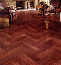 Urban Wood 6x36 Tiles laid in a diagonal pattern New House