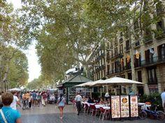 il centro di Barcellona, las ramblas