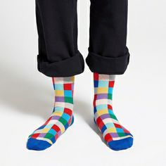 Getting socks for holiday gifts are more fun when they add this much kick to your wardrobe. Marimekko Karo Blue/Multicolor Men's Socks - $26