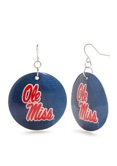 accessory PLAYS® Silver-Tone Ole Miss Rebels Large Shell Drop Earrings