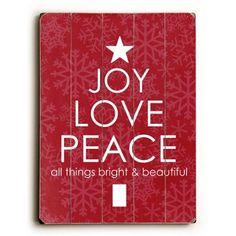 Check out this item at One Kings Lane! Joy, Love, Peace