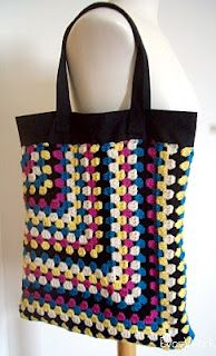 Half Granny Square Crochet Bag