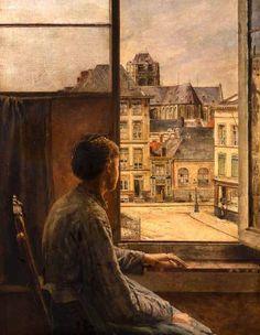 H. De Braekeleer - The tienersplaats - 1878
