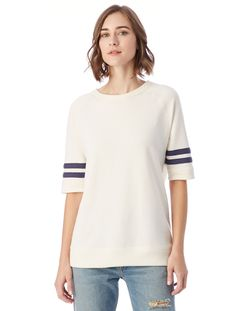 32.00 -  Greeting, this Alternative women's vintage sport French Terry Fifth yardliner sweatshirt is a great option for working or just hanging out, , ebuybit.com