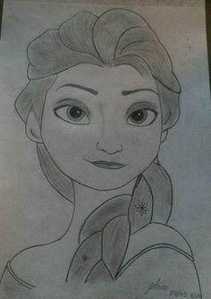 Elsa - Frozen Elsa Frozen, Female, Drawings, Art, Art Background, Elsa From Frozen, Kunst, Sketches, Performing Arts