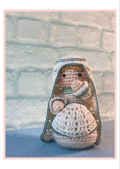 Pregnant Mary is a part of the new Woolytoons Nativity scene. After the birth you can remove her belly and make it into al sling for the baby! Christmas Nativity Scene, Crochet Patterns, Crochet Ideas, Straw Bag, Coin Purse, Mary, Birth, How To Make, Amigurumi