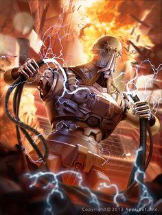 Galaxy Saga Mutinous Android by on DeviantArt Galaxy Saga, Gang Road, Sci Fi Fantasy, Sci Fi Art, Rogues, Character Concept, Cyberpunk, Game Art, Techno