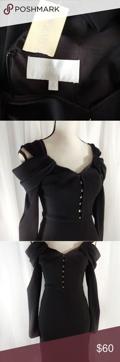 "MIKAEL AGHAL Mikael Aghal, Perfect Condition, stunning! Pit to pit 15"", waist 13"", no give, length 32"". Mikael Aghal Dresses Midi"