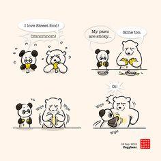 Polar Bear is Panda's big fluffy towel.