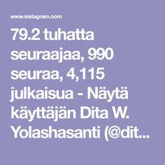 79.2 tuhatta seuraajaa, 990 seuraa, 4,115 julkaisua - Näytä käyttäjän Dita W. Yolashasanti (@ditut)