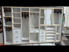 manualidad : Closet para muñecas barbie ♥DIY walk-in closet for barbie dolls - YouTube