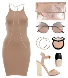 """Nude but not naked"" by baludna ❤ liked on Polyvore featuring Clare V., Giuseppe Zanotti, Linda Farrow, Sephora Collection, Marc Jacobs and River Island"