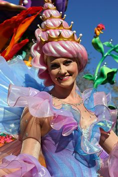 """DISNEY'S NEW PARADE COSTUMES!!! Festival of DISNEY'S NEW PARADE COSTUMES!!! Fantasy parade preview at Walt Disney World by insidethemagic, via Flickr (This is for Ariel's float; she's a """"seashell."""" So darn cute! Love the conch headdress!)"""