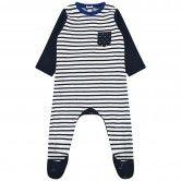 Catimini Boys Navy Striped Babygrow