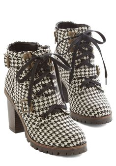 Show Me Your Houndstooth Boot, #ModCloth: