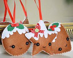 Gingerbread ornament, christmas pudding, traditional decoration, christmas decor, handmade christmas ornament wall tree decoration