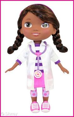 Doc McStuffins Doll we already got this for Piper for her Doc bray party! They say it is going to be one of the top wanted Xmas gifts! She will be soooo excited! Doc Mcstuffins Toys, Doc Mcstuffins Birthday Party, 3rd Birthday Parties, Toddler Girl Halloween, Jolie Lingerie, African American Dolls, Girl Themes, Disney Junior, Disney Toys