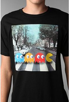 This shirt would be more awesome if they were all Pac-Men except for Paul. Paul is still a Ghost.