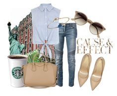 """Concrete jungle where dreams are made"" by sbswag ❤ liked on Polyvore featuring Ray-Ban, Balmain, Miss Selfridge, Givenchy, Marc by Marc Jacobs, Envi: and Yves Saint Laurent"