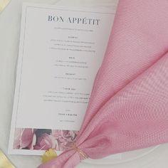 Pink Menu cards | blush pink Table napkins | tablesettings | Bridal Shower | brides | Shower | eventdesign | florals |stacyarmand | stacyarmandevents| bride |table