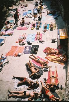 """""""British tourists at Hvar Island"""". Ada Hamza is the Slovenian-born photographer capturing the remnants of the former Yugoslavian republics through the glare of the summer sun. See more here: http://www.dazeddigital.com/photography/article/23852/1/exploring-history-and-independence-in-the-balkans"""
