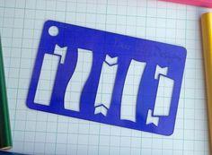 Mini Banners Stencil Planner Stencil Bullet by DearLilyDesigns