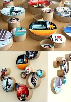 Best DIY Picture Frames and Photo Frame Ideas - DIY Cardboard Ring Picture Frames - How To Make Cool Handmade Projects from Wood, Canvas, Instagram Photos. Creative Birthday Gifts, Fun Crafts for Friends and Wall Art Tutorials http://diyprojectsforteens.com/diy-picture-frames #girlfriendbirthdaygifts