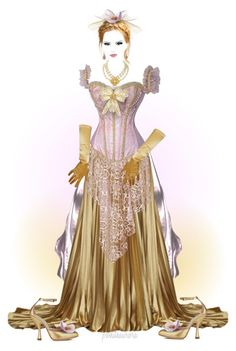 """Costume Design ~ Victorian Inspired {in Top Art Sets 6-12-2016}"" by pwhiteaurora ❤ liked on Polyvore featuring art"