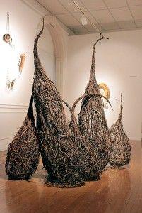 Vines, Arts And Crafts, Weaving, Sculpture, Sticks, Basket, Organic, Paintings, Creative